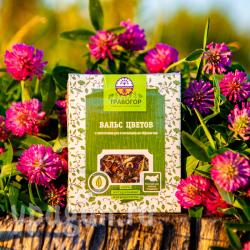 Вальс цветов Чёрный чай с лепестками роз