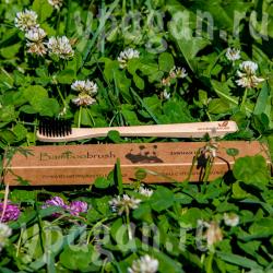 Зубная ЭКО щётка натуральная бамбук